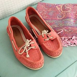 Sperry Pink Top Siders Boat Shoes Size 8
